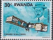 Buy Rwanda 1v mnh Stamp 1978 History of Aviation Santos Dumont and Canard
