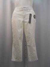 Buy Women Crop Pants JM COLLECTION PLUS SIZE14W White Tummy Slim Comfort Waistband
