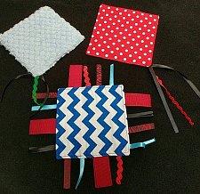 Buy Set of 3 handmade baby crinkle ribbon minky toy, free shipping in U.S.
