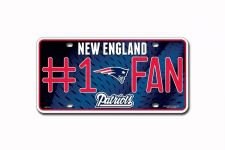 Buy New England Patriots NFL Number One Fan License Plates