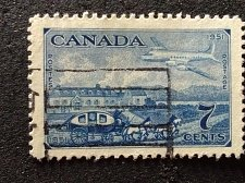 Buy Canada Used 1v Stamp 7c 1951 Used Stagecoach of 1851 & Plane of 1951