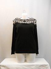 Buy Plus Size 0X Sweater CHARTER CLUB Black Cowl Neck Long Sleeves Medium Knit