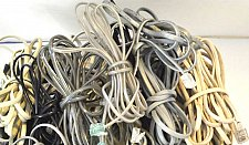Buy 30 standard house hold tele phone cords (3ft+ea.) cables bunch box full wires