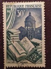 Buy France 1v used stamp - 0971 - 1954 - Métiers d'art Edition et reliure