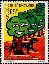 Buy Ivory Coast 1V MNH Mi:CI 489, Forest Protection and Nature Environment