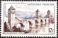 Buy France Landscapes Pont Valentré à Cahors mnh 1955