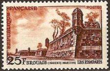 Buy France Landscape Remparts de Brouage mnh 1955