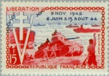 Buy France D-day Liberation mnh 1954