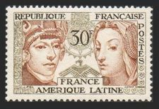 Buy France Franco-Latin American Friendship mnh 1956