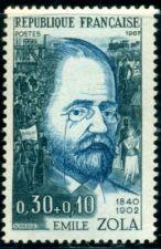 Buy France Emile Zola mnh 1967