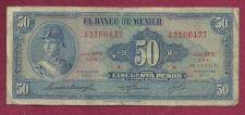 Buy Mexico 50 Peso 1972 Banknote # A3166477 - Ignacio De Allende at left