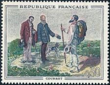 Buy France Paintings Courbet mnh 1962