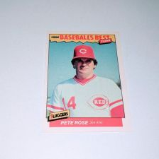 Buy Vintage Pete Rose 1986 Fleer BASEBALLS BEST Collectors Card MNT