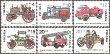 Buy Poland: Fire Engines (1985), MNH complete 6-value set.