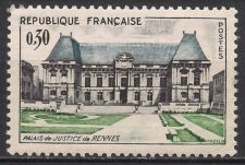Buy France The Justice Palace in Rennes mnh 1962