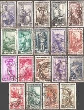 Buy Italy: Scott no. 549-567 (1950), Used Complete 19-value set