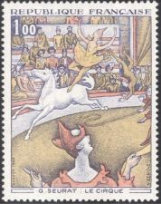 Buy France Painting Le Cirque Seurat mnh 1969