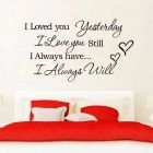 Buy I love you Wall Stickers
