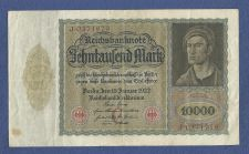 "Buy GERMANY 10000 MARK 1922 REICHSBANKNOTE J 0371979 ""VAMPIRE NOTE"" Large Note"