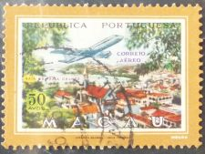 Buy Stamp Macau Macao 1960 Views of Macau with Airplane 50 Avos