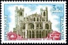 Buy France Narbonne cathédrale Saint Just mnh 1972