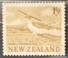 Buy Stamp New Zealand 1960 Definitive Aerial Top Dressing 1s9d