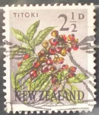 Buy Stamp New Zealand 1961 Definitive Titoki / New Zealand Oak (Alectryon excelsus) 21/2d