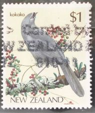 Buy Stamp New Zealand 1985 Birds North Island Kōkako (Callaeas cinerea wilsoni) $1
