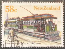 Buy Stamp New Zealand 1985 Tramways Christchurch 58c