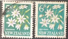 Buy Stamp New Zealand 1960 & 1967 Definitives Kowhai (Sophora microphylla) 6 d & 5 c