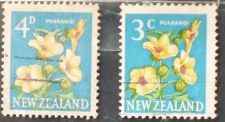 Buy Stamp New Zealand 1960 & 1967 Definitives Puarangi, Venice Mallow (Hibiscus trionum)