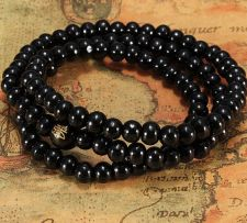 Buy Black buddha beads necklace