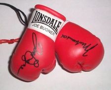 Buy Muhammad Ali v Joe Bugner Autographed Mini Boxing Gloves