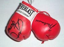 Buy Muhammad Ali v George Forman Autographed Mini Boxing Gloves