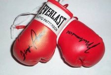 Buy Muhammad Ali v Floyd Patterson Autographed Mini Boxing Gloves