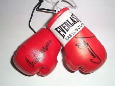 Buy Cassius Clay v Archie Moore Autographed Mini Boxing Gloves