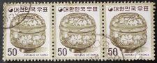 Buy Stamp South Korea 1975 Ceramic Jar Ceramic Jar Series: Art objects 50 won Strip of 3