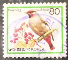 Buy Stamp South Korea 1986 Japanese Waxwing (Bombycilla japonica) 80 Won