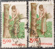 Buy Stamp India 1983 Definitive Agriculture Profession Rubber Tapping 5 R pair
