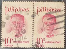 Buy Stamp Philippines 1970 Mariano Ponce (1863-1918) 10 Sentimo pair