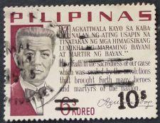 Buy Stamp Philippines 1972 1966 Aguinaldo Credo 6 Sentimo Overprinted in Black 10 Sentimo