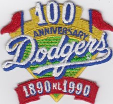 Buy Los Angeles Dodgers 100th Anniversary 3 inch patch
