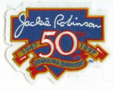 Buy Jackie Robinson 50th Anniversary Breaking Barriers 3 inch patch