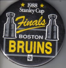 Buy Boston Bruins 1988 Stanley Cup Finals 3 inch round Pin