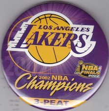 Buy 2002 Los Angeles Lakers NBA Champions 3-Peat pin