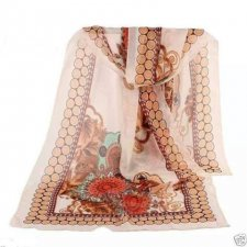 Buy Fashion flower Long Soft Silk new scarf