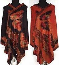 Buy NEW Reversible butterfly Women's Pashmina scarf
