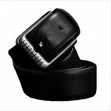 Buy Men's 38mm Leather Reversible Belt--110CM--09 Black
