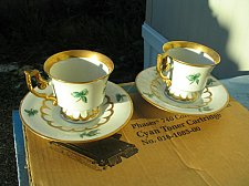 Buy Pair 2-Each Heinrich - H&c Guilded Floral Cup and Saucer Set-