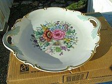 """Buy Floral Hutschenreuther Porcelain Large Round 12""""Decrotive Serving Plate-Artist Signed"""